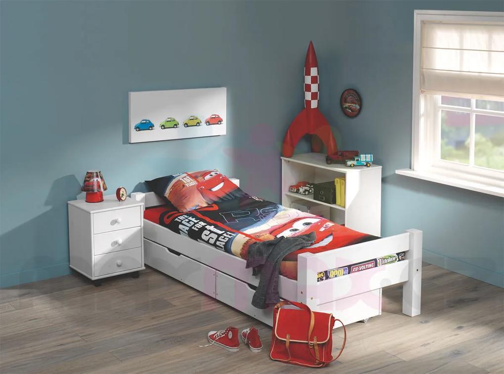 MAXMAX Detská posteľ z masívu 200x80cm so zásuvkami KAROLÍNA