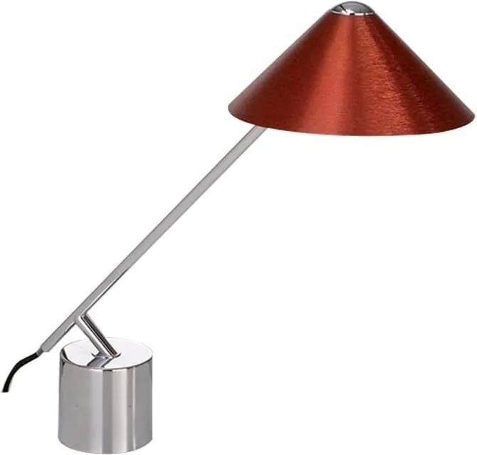 Stolové svietidlo s červeným tienidlom Design Twist Fao