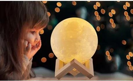 DR 9613 Stolná lampa mesiac 3D - 8cm
