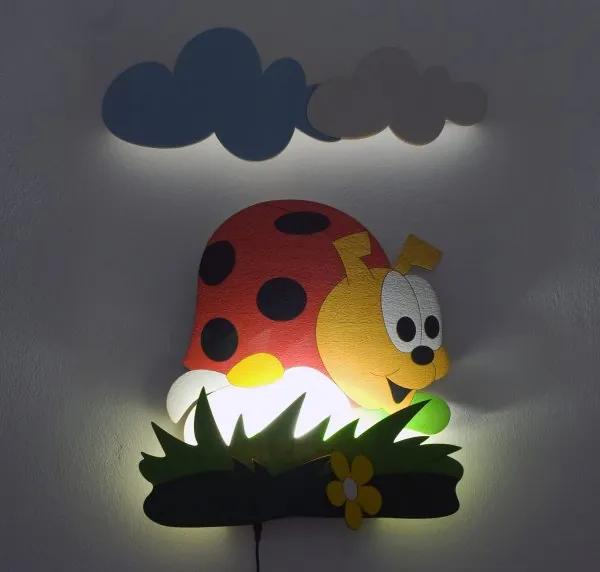 DoDo LED Lampička Lienka s diaľkovým ovládaním NL 3LED DO 50x35 cm