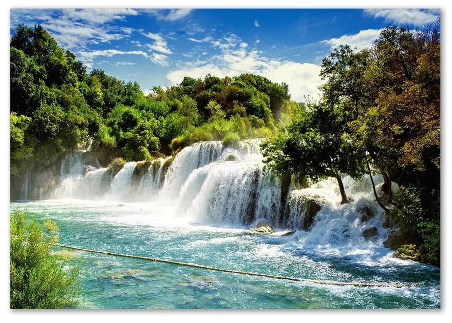 Fotoobraz na skle Vodopád Krka pl-osh-100x70-f-71335224
