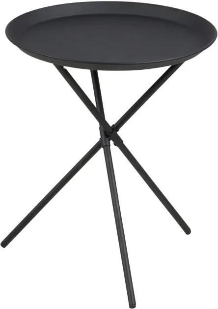 Čierny odkladací stolík Actona Clipston