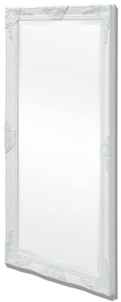 vidaXL Nástenné zrkadlo v barokovom štýle, 120x60 cm, biele