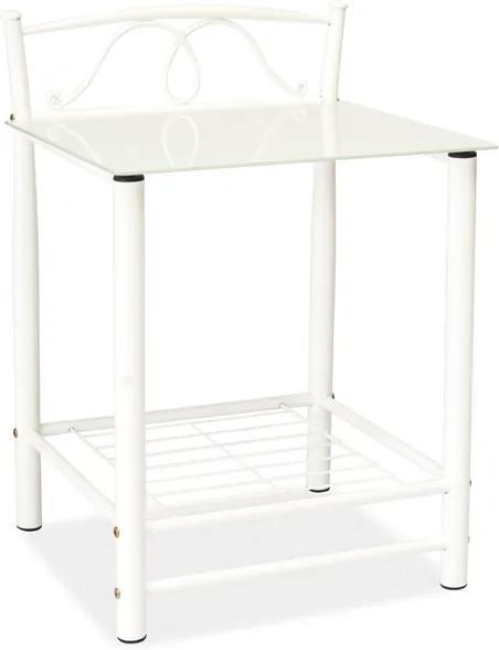 SIGNAL ET-920 nočný stolík biela