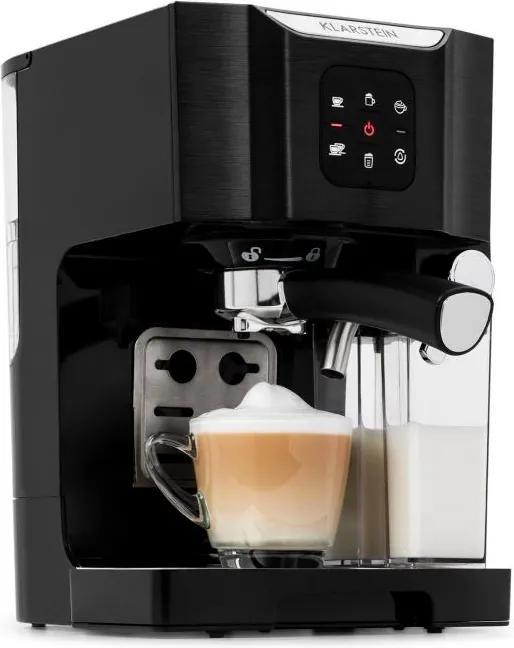 Klarstein BellaVita, kávovar, 1450 W, 20 barov, penič mlieka, 3 in 1, čierny