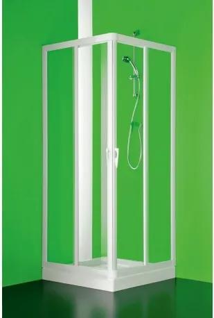 HOPA - Čtvercový a obdélníkový sprchový kout VELA - 185 cm, 120 cm × 80 cm, Univerzální, Plast bílý, Čiré bezpečnostní sklo - 3 mm (BSVEL8012S)