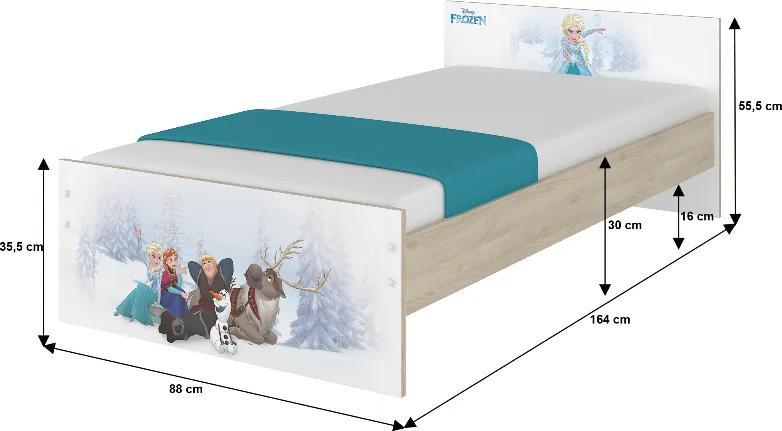 DO Frozen Max X detská izba Disney - 160x80 (3ks)