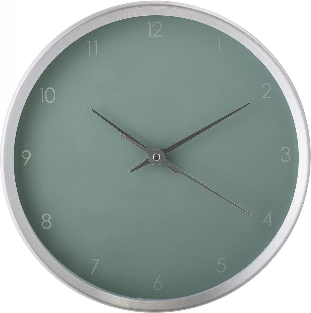 Bloomingville Nástenné hodiny Aluminium Green