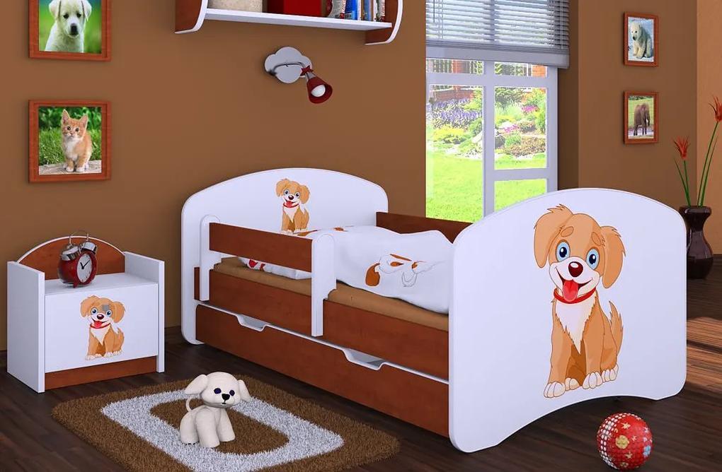 MAXMAX Detská posteľ so zásuvkou 180x90cm PSÍK - kalvados