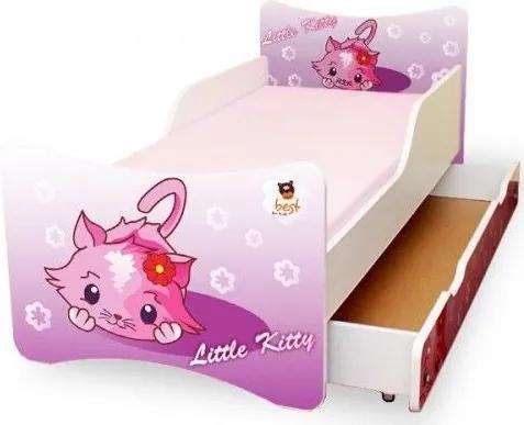 MAXMAX Detská posteľ 180x90 cm so zásuvkou - LITTLE KITTY 180x90 pre dievča ÁNO