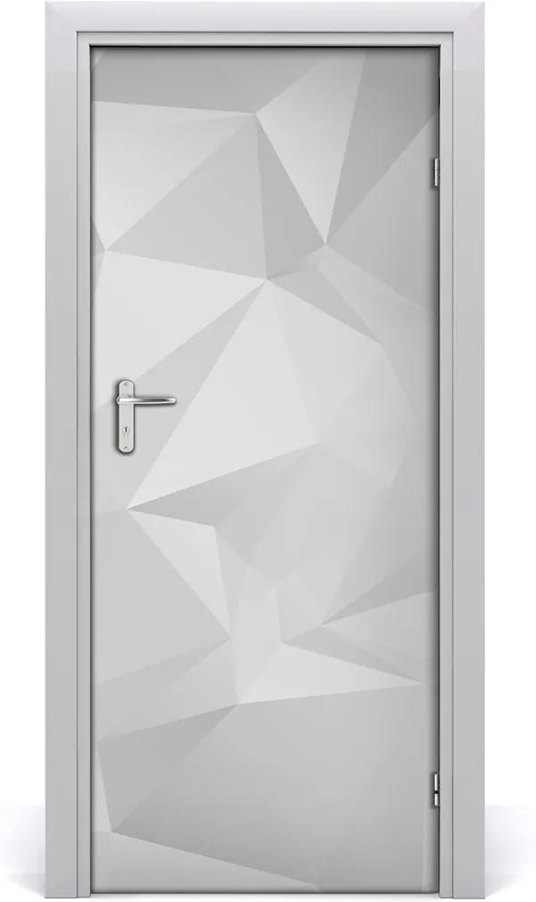 Samolepiace fototapety na dvere  abstrakcie trojuholníky