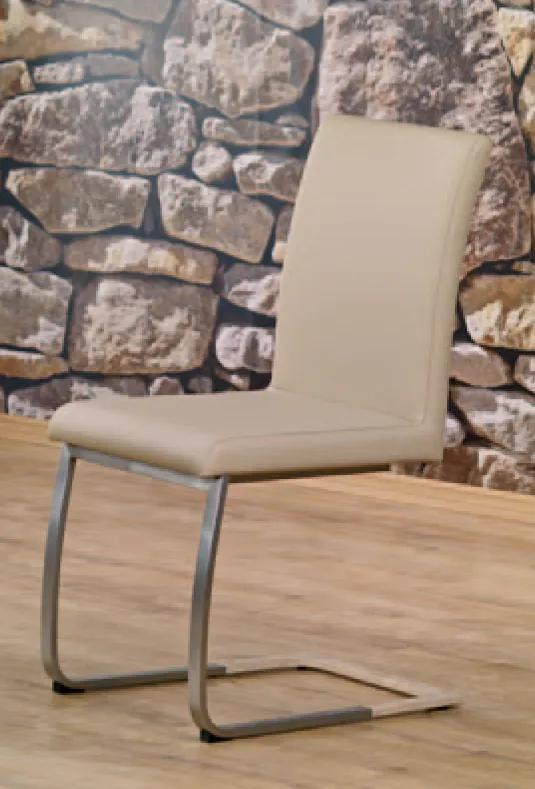 HALMAR Rosario jedálenská stolička béžová / chróm