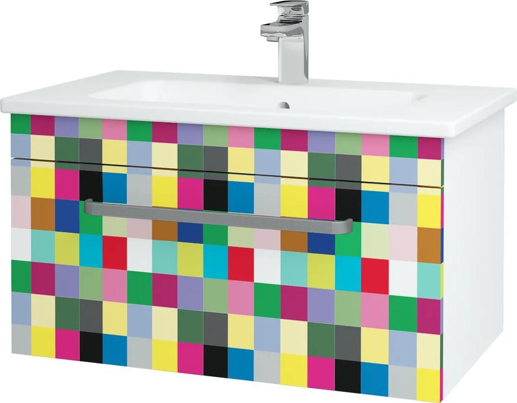 Dřevojas - Koupelnová skříň ASTON SZZ 80 - N01 Bílá lesk / Úchytka T01 / IND Individual (137465A)