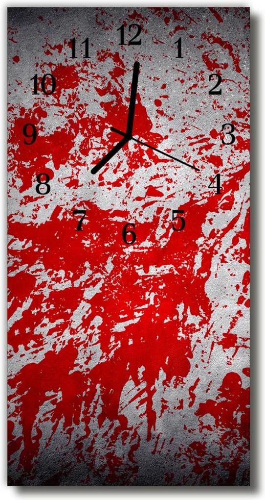 Skleněné hodiny vertikální Umělecké vzory graficky červené