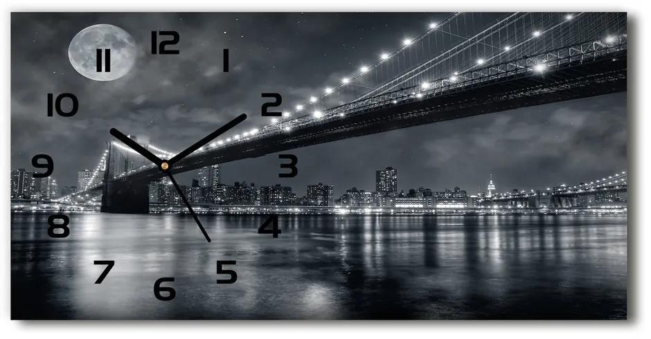 Sklenené hodiny na stenu Brooklinský most pl_zsp_60x30_f_15676398