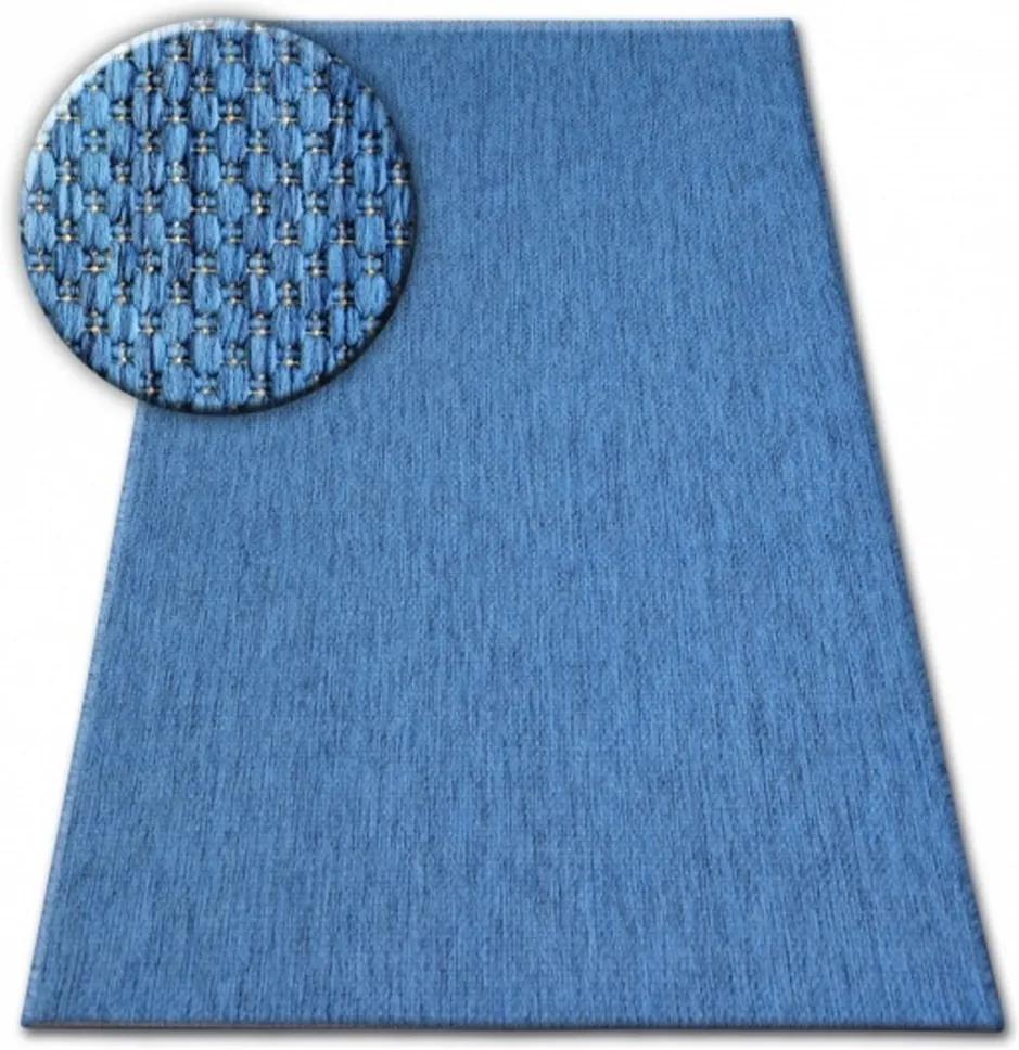 Kusový koberec Flat modrý, Velikosti 80x150cm