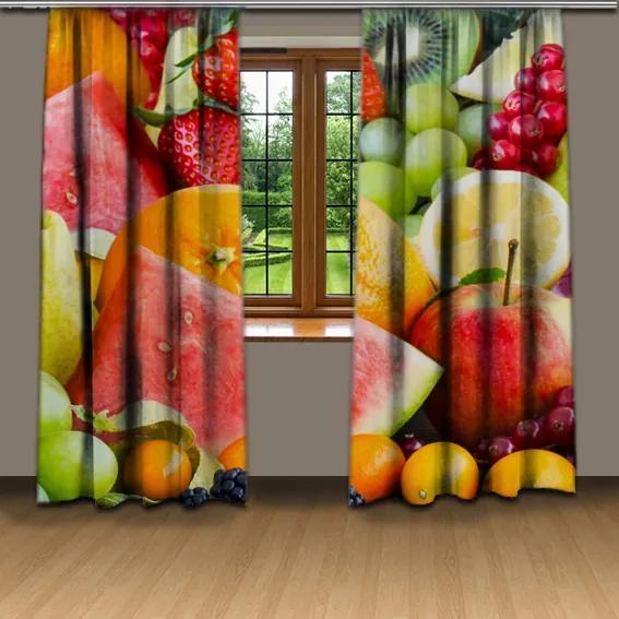 Závesy Ovocie (Rozmer: 140x250)
