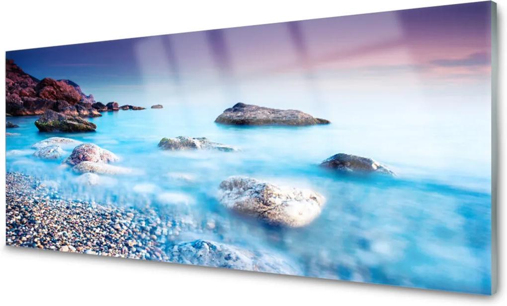 Obraz na skle Moře kameny krajina