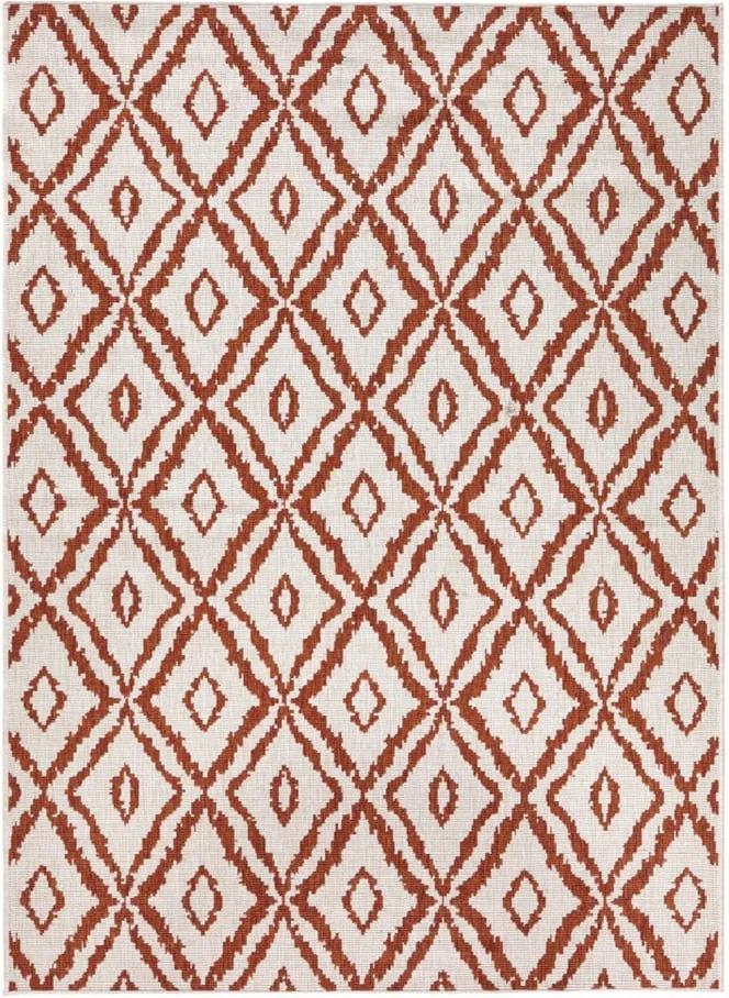 Červeno-biely vonkajší koberec Bougari Rio, 160 x 230 cm