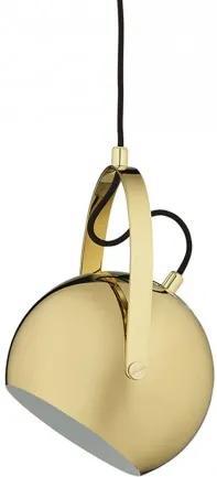 Ball with Handle brass, závěsné svítidlo Ø18 cm,mosaz Frandsen lighting 5702410207226