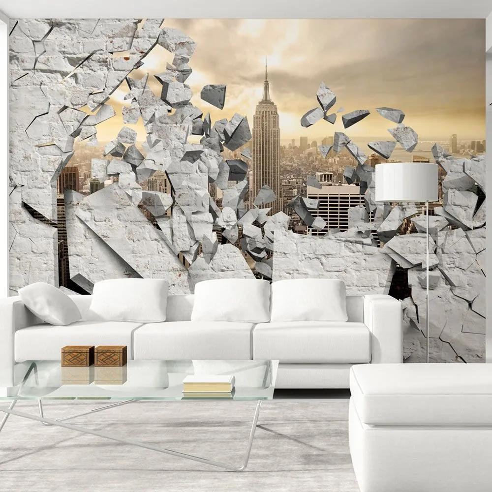 Fototapeta - NY - City behind the Wall 300x210