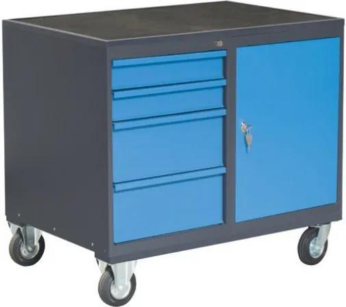 NABBI PLW01G/P7P1 dielenský vozík na kolieskach so zámkom grafit / modrá