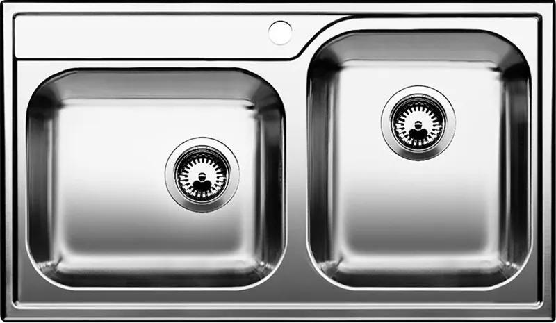 Nerezový kuchynský drez - Blanco MEDIAN 9 nerez kartáčovaný 512658