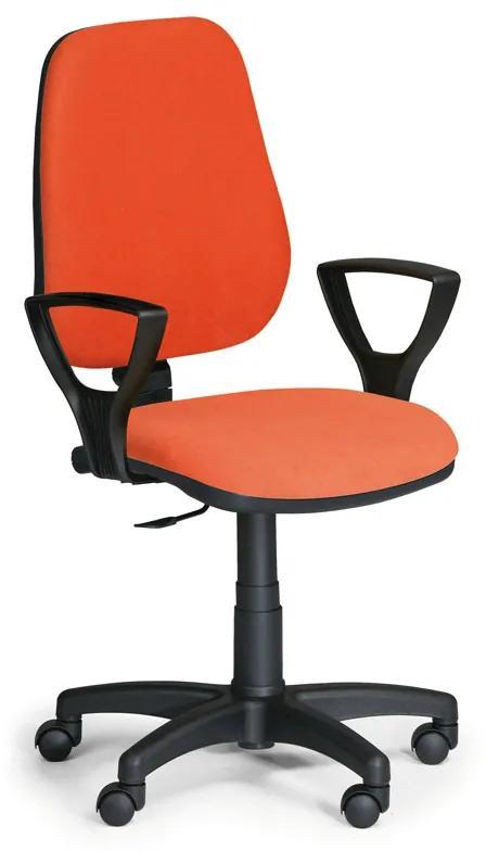 EUROSEAT Kancelárska stolička COMFORT PK s podpierkami rúk, oranžová