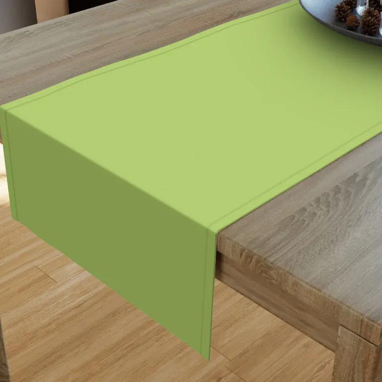 Goldea bavlnený behúň na stôl - zelený 35x120 cm
