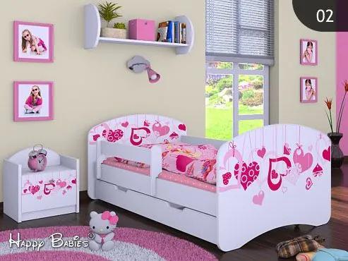 MAXMAX Detská posteľ so zásuvkou 180x90cm FALL IN LOVE