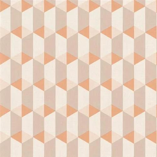 Vliesové tapety na stenu Inspiration Wall IW 3504, kocky ružovo-fialové, rozmer 10,05 m x 0,53 m, Grandeco