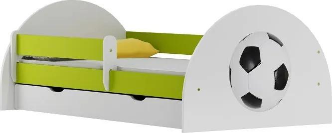 MAXMAX Detská posteľ so zásuvkou FUTBAL 200x90 cm 200x90 pre chlapca ÁNO