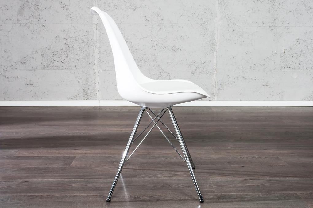 Bighome - Jedálenská stolička SCANIA RETRO - biela