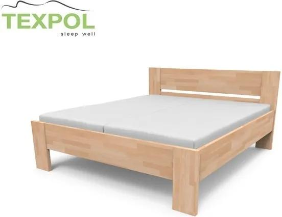 TEXPOL Manželská masívna posteľ NIKOLETA - plné čelo Veľkosť: 210 x 170 cm, Materiál: BUK morenie jelša
