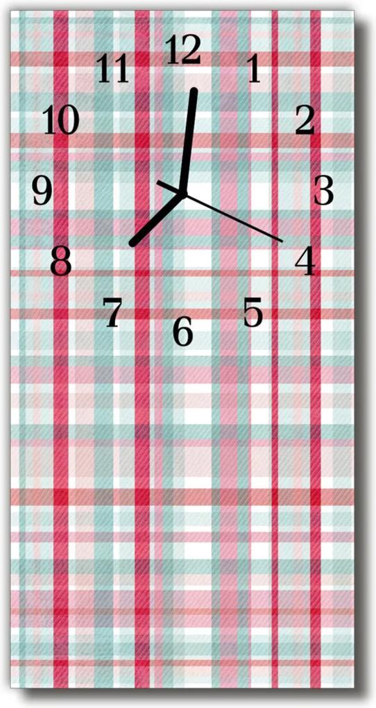 Nástěnné hodiny vertikální Mřížka barevné čáry