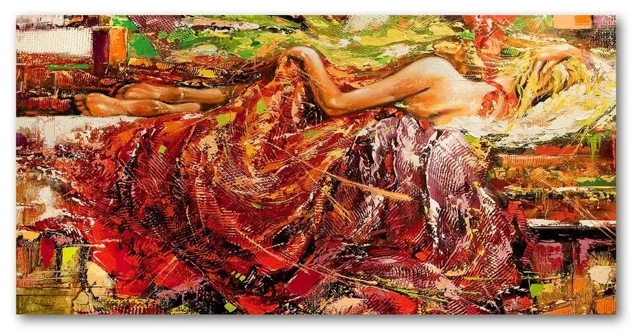 Foto obraz akrylový Spiaca žena pl-oa-140x70-f-31863954