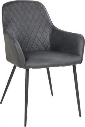 Jídelní křeslo HARBO, tmavě šedé,PU kůže House Nordic 1001152