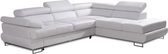 KONDELA Buton P P rohová sedačka biela
