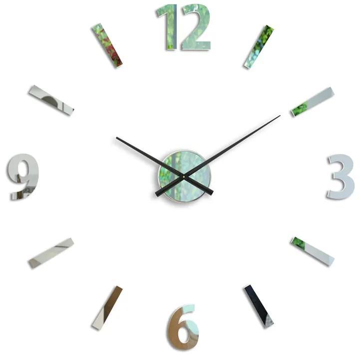 Moderné nástenné hodiny KLAUS MIRROR HMCNH061-mirror
