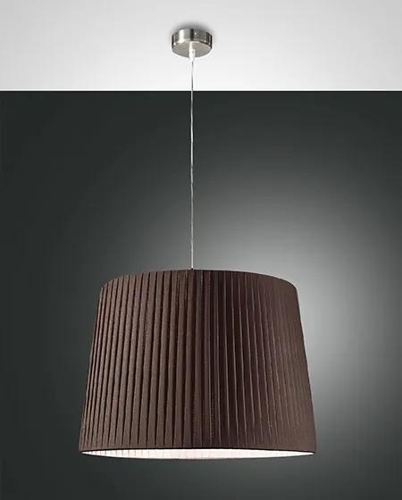 Závesné svietidlo FABAS DOROTEA SUSP.LAMP D.50 BROWN PLEATED 2960-45-274