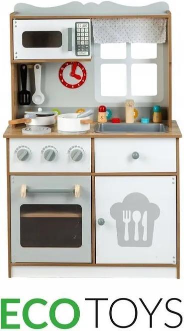 ECOTOYS Dřevěná kuchyňka pro děti Eco Toys