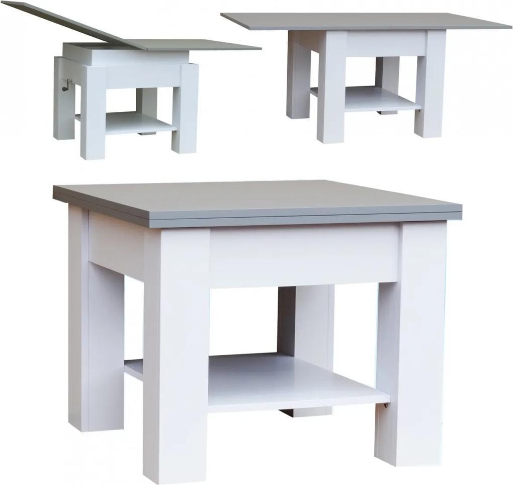 Konferenčný stolík štvorec rozkladací Dromi