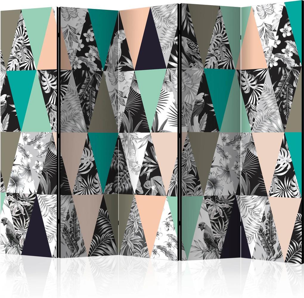 Paraván - Tropical Mosaic II [Room Dividers] 225x172