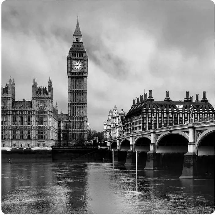 MAXMAX Dekoračné obrázok LONDÝN 19x19 cm