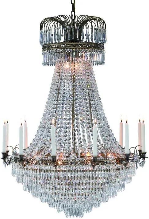 Sviečkový závesný krištáľový luster 100667