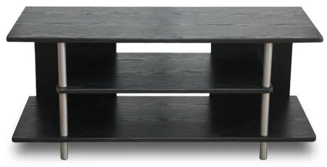 TEMPO KONDELA Quido tv stolík čierna / strieborná