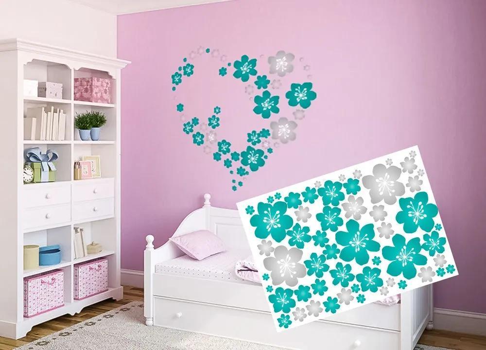 Dekoračné nálepky na stenu kvety