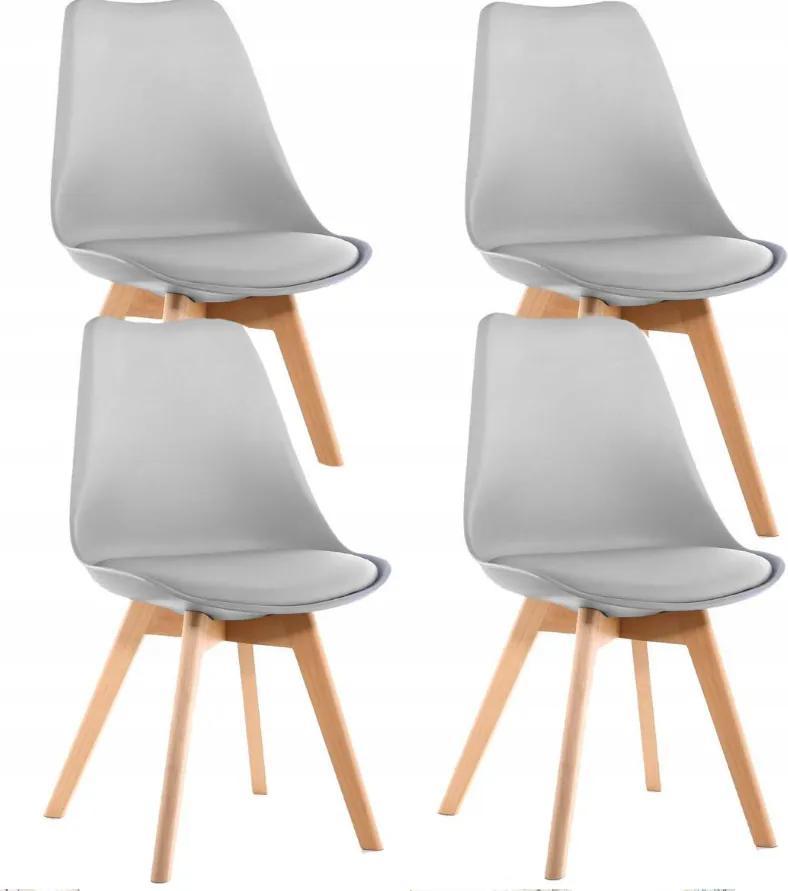 Jedálenská stolička SCANDI svetlo sivá - škandinávsky štýl