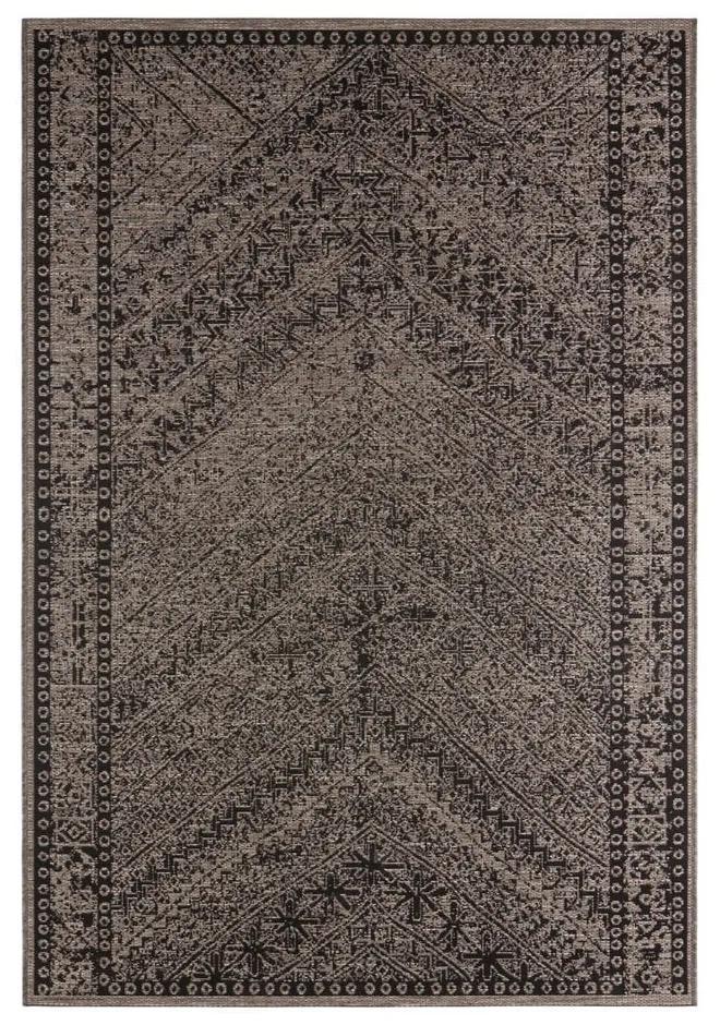 Hnedo-černý vonkajší koberec Bougari Mardin, 160 x 230 cm