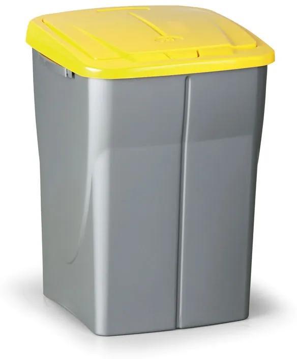 Odpadkový kôš (š x h x v): 37 x 36,5 x 51,5 cm, 45l, veko: žlté